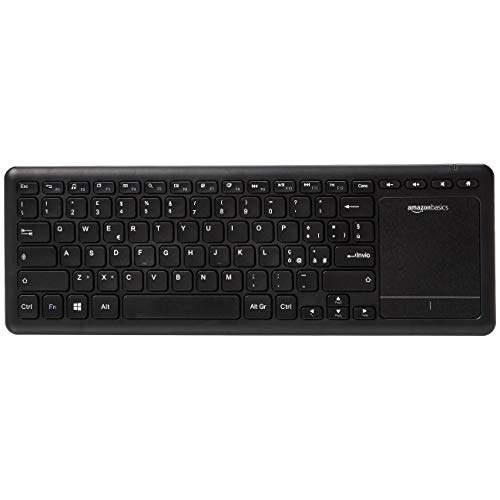 AmazonBasics - Tastiera wireless, con touchpad per Smart TV, Layout IT (QWERTY)