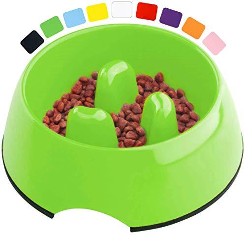 DDOXX Fressnapf Antischlingnapf, rutschfest | viele Farben & Größen | für kleine & große Hunde | Futter-Napf Katze | Hunde-Napf Hund | Katzen-Napf | Melamin-Napf | Grün, 600 ml
