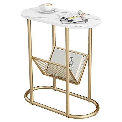 WUDAXIAN Tavolini Rotondi, Superficie in lastre di Roccia, Comodino Centrale per tavolino da Salotto per Piccoli spazi, Bar, Hotel, mobili per Ufficio
