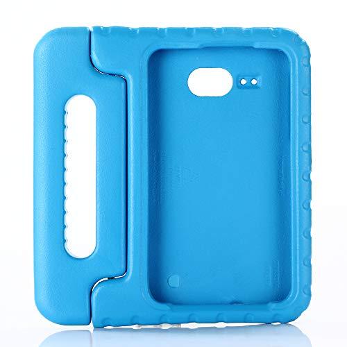 QIHANG Funda Infantil Samsung Galaxy Tab A 7.0 T280 T285, Carcasa Niño Antigolpes con Asa Convertible Tapa de Soporte, Funda Bebé Ligera para Galaxy Tab A 7.0 T280 T285 (Azul)