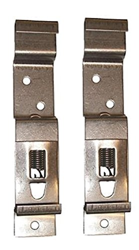 BITS4REASONS 2 X (1 PAIR) TRAILER NUMBER PLATE HOLDERS CLIPS LICENSE PLATE BRACKETS STAINLESS SPRING LOADED STEEL - STANDARD UK SIZE PLATE 11CM (110MM) DEPTH