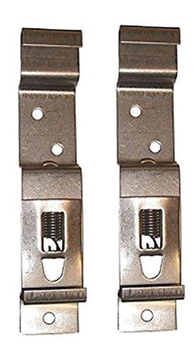 BITS4REASONS 2 x (1 par) soportes para placa de matrícula de remolque, acero inoxidable, tamaño estándar del Reino Unido, 11 cm (110 mm) de profundidad.