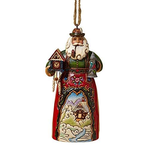 """Jim Shore Heartwood Creek German Santa Stone Resin Hanging Ornament, 4.75"""""""