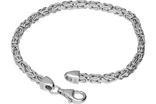 FILANGO Schmuck 925er Silber Königsarmband mit Karabinerverschluss hochglanzpoliert | Farben & Längenauswahl