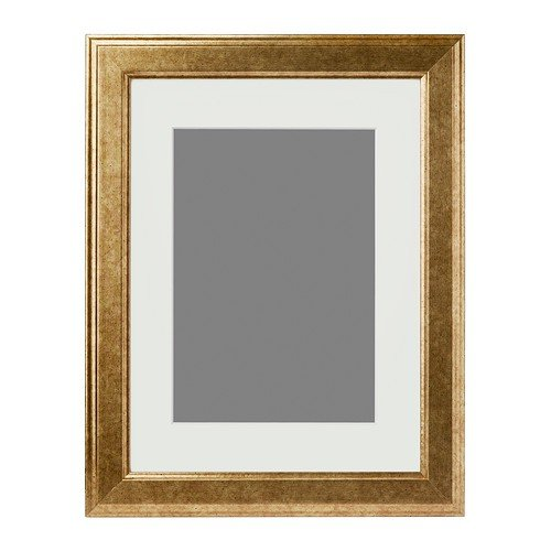 IKEA VIRSERUM - Frame, gold-colour - 30x40 cm