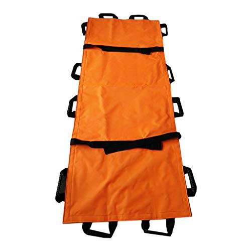 SDENSHI Rettungstuch Umbettungstuch Krankentrage mit 12 verstärkten Handgriffe - Orange, 195 x 70 cm