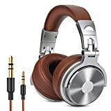 OneOdio Adapter-free Closed-Back DJ Studio Headphones for Monitoring and Mixing, Protein Leather Earcups