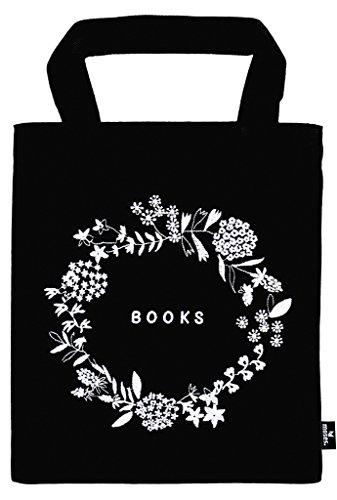 moses. 82698 libri_x Büchertasche Flowers Tragetasche aus 100% Baumwolle für Buchliebhaber