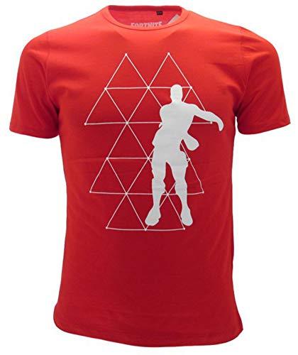 Global Brands Group T-Shirt Originale Fortnite Dance Floor Bambino Ragazzo Epic Games Maglietta Rossa (7-8 Anni)