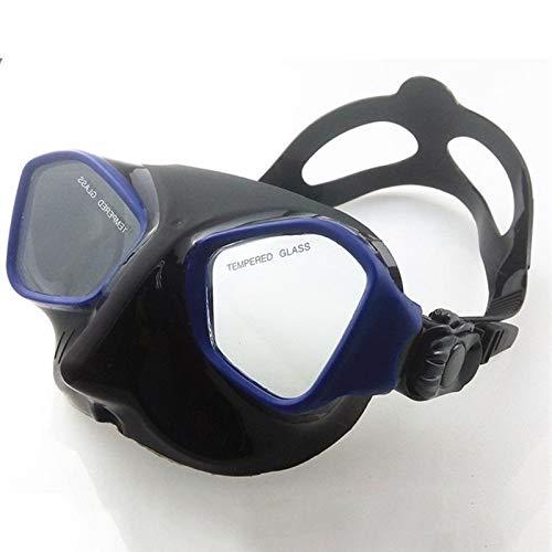 MHSHKS Máscaras De Buceo Máscara De Snorkel Gafas De Buceo Antivaho Gafas Subacuáticas De Visión Amplia Accesorios De Natación para Deportes Acuáticos para Mujeres Hombres (Color : Blue)