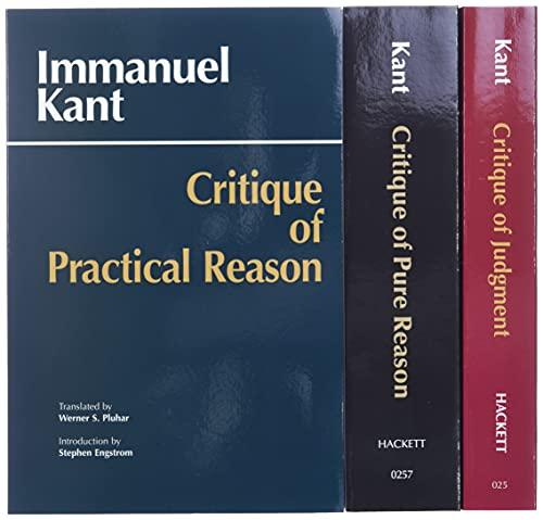 Three Critiques, 3-volume Set: Vol.…