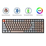 Keychron K4 Mechanical Keyboard, Wireless Mechanical Keyboard with RGB Backlight/Gateron Red Switch/Wired USB C / 96% Layout, Bluetooth Gaming Keyboard for Mac Windows PC Gamer