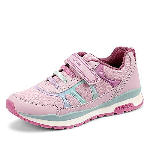 Geox Mädchen J Pavel Girl A Sneaker, Pink (Lt Pink/Dk Pink C8099), 32 EU