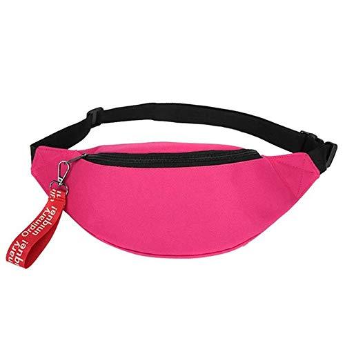 Bauchtasche XYDBB Sport Canvas Taille Tasche Fanny Casual Chest Packs Für Frauen Männer Tragbare Reise Schulter Crossbody 36 * 14cm Rosa