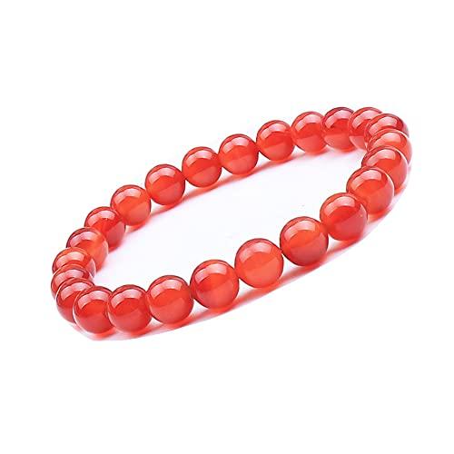 UEUC - Pulsera de piedras preciosas naturales para mujeres y hombres, piedras preciosas de chakra de 8 mm con perlas redondas de cristal de cuarzo, pulsera extensible (#9)