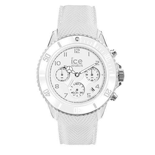 Ice-Watch - ICE dune White - Men\'s wristwatch with silicon strap - Chrono - 014217 (Large)