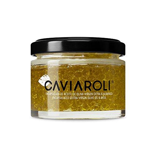 Caviaroli - Encapsulado de Aceite de Oliva Virgen Extra con Albahaca - 50 g