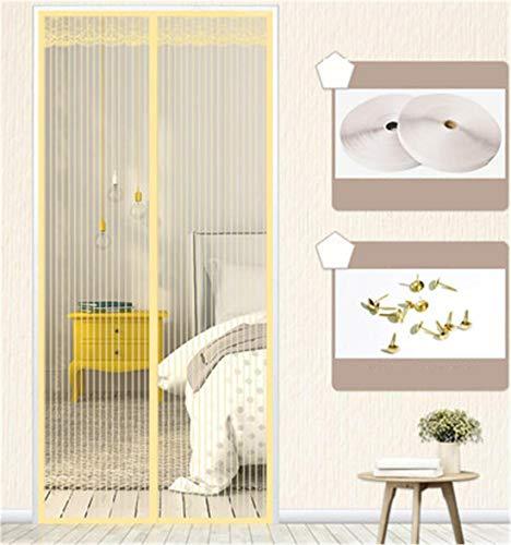 Gordijngaren,Balkondeur | woonkamerdeur | keukendeur,Muggen,insecten en vliegen Deurschermen,Ademend,De kamer is verdeeld,Magnetisch zandvrij zacht zandgordijn,Yellow,85 * 210CM