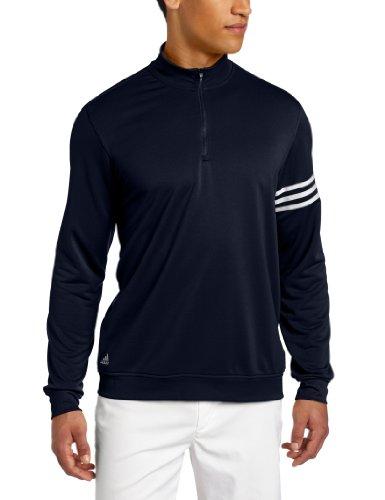 adidas Golf Climalite - Sudadera con 3 Rayas para Hombre, Hombre, 49, Azul y Blanco, M