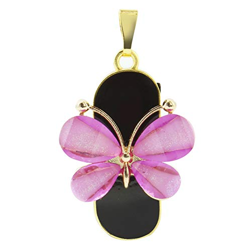 3C Light 16GB 2.0 USB Flash Drive Crystal Butterfly Shape Jewelry USB Flash Disk Jump Drive Thumb Drive Pen Drive with Necklace Memory Stick Data Storage Gift (16 GB, Purple Butterfly)