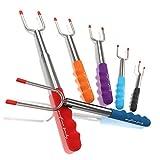 anytime family Extending Marshmallow Roasting Sticks 45' - 6 Premium Telescoping Stainless Steel...
