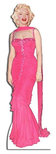 Star Cutouts Pappaufsteller von Marilyn Monroe im Abendkleid (Pink)
