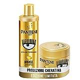 Pantene Pro-V by CHIARA FERRAGNI Miracle Shampoo Protezione Cheratina Rigenera e Protegge per Capelli Secchi, Opachi e Danneggiati, 250 ml + Maschera per Capelli Danneggiati, 300 ml, EDIZIONE LIMITATA