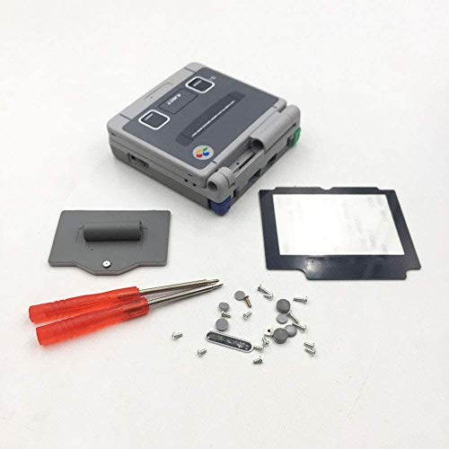 Coque de remplacement complète avec lentille d'écran tournevis pour Game boy Advance SP GBA SP Coque avec boutons Kit-SFC