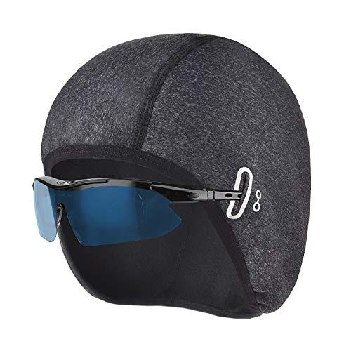 CCKOLE Wintermütze für Herren Damen, Winddichte Fahrrad Mütze Caps für Brillen, Warm Helm-Unterziehmütze mit Ohrabdeckungen, Sport Mütze für Radfahren Skifahren Laufen Snowboarden Outdoor