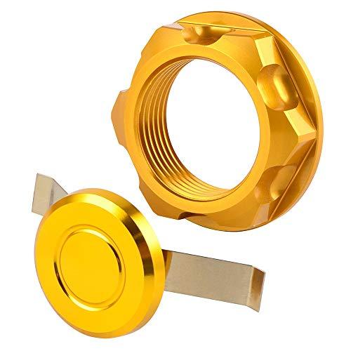 Felicey Dirección de tuerca de tuerca de tallo para ka.wa.sa.ki kx 125 250 250f 450f klx450r su.zu.ki rmz250 djebel 250xc rmx250 / s drz400s / e/sm v-strom Diseño elegante (Color : Gold)