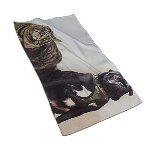 Toallas para cachorros Toallas de baño de secado rápido de alta calidad de absorción súper suave de algodón para baños, piscinas, cocinas de hotel (30,5 x 60,5 cm)