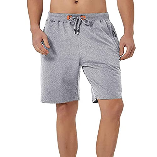 Katoenen Shorts Heren Sport Joggingbroek Korte Trekkoord Broek Shorts Slim Fit Zwemshorts Boardshorts Shorts Elastische Tailleband Heren (M-3XL)