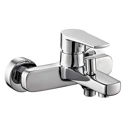 Grifo monomando de bañera FUS con desviador 2 vías, equipo de ducha de mano, soporte y flexo. Fabricado en latón cromado brillo. Incluye cartucho, excéntricas y embellecedores. Repuestos garantizados