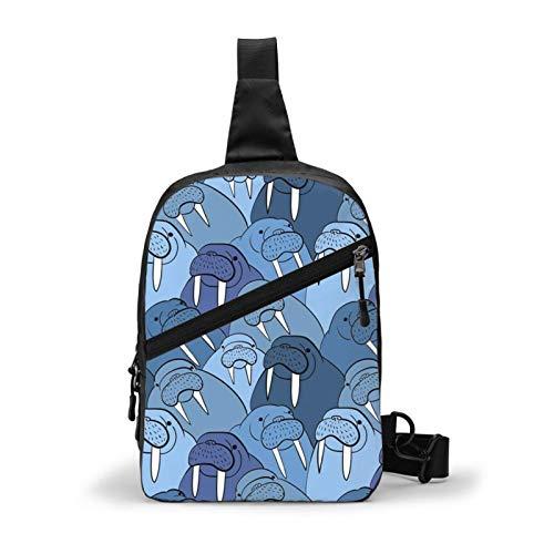 Wall of Morses Schultertasche, Schultertasche, Brusttasche, Outdoor, Wandern, Reisen, persönliche Tasche, für Damen und Herren, wasserabweisend