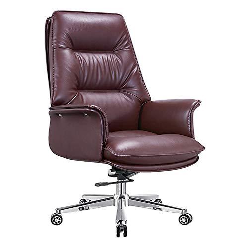 Silla de oficina de piel, silla ejecutiva de apoyo, silla Chef Chair Home Fashion Luxury
