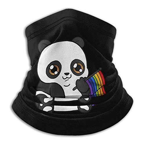 XXUU Niedlicher Panda Regenbogen LGBTQ Hals warmer Schal im Freien wiederverwendbare Gesichtscovere Bandana