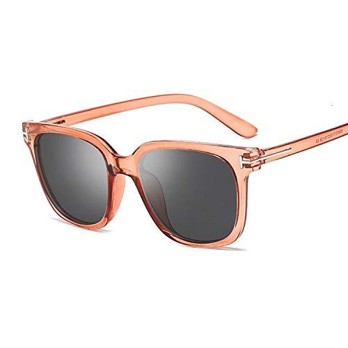 Gafas De Sol Gafas De Sol Cuadradas De Moda Mujer Gafas De Sol De Ojo De Gato Vintage Estilo De Marco Completo Retro Femenino-Marrón