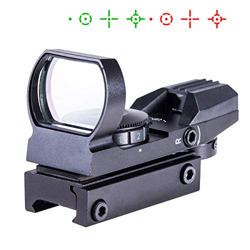 Sfeomi Rot Grün Dot Reflex Sight Leuchtpunkt Laser Zielvisier Holographic Scope ed Green Dot Sight Taktische Reflex Sight Scope 4 Reticle Patterns für Jagd und Sport