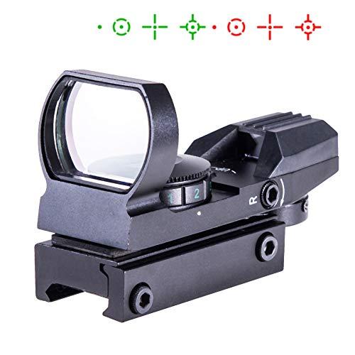 Sfeomi Rot Grün Dot Reflex Sight Leuchtpunkt Laser Zielvisier Holographic Scope ed Green Dot Sight Taktische Reflex Sight Scope 4 Reticle Patterns für Jagd und Sport