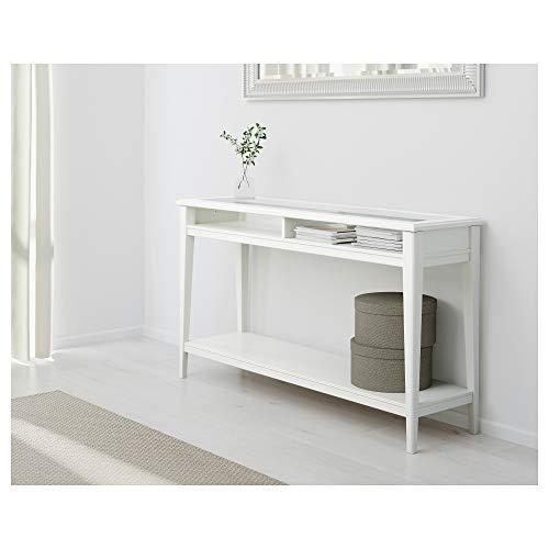 IKEA Liatorp Console Table, White, Glass