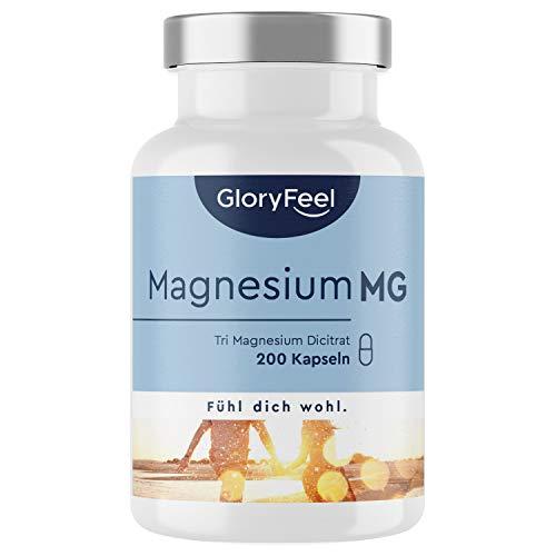 Premium Magnesium-Citrat 2.400 mg - Vergleichssieger 2020* - 200 Kapseln - 2400mg Magnesiumcitrat pro Tagesdosis - Laborgeprüft, hochdosiert, vegan, ohne Zusätze in Deutschland hergestellt