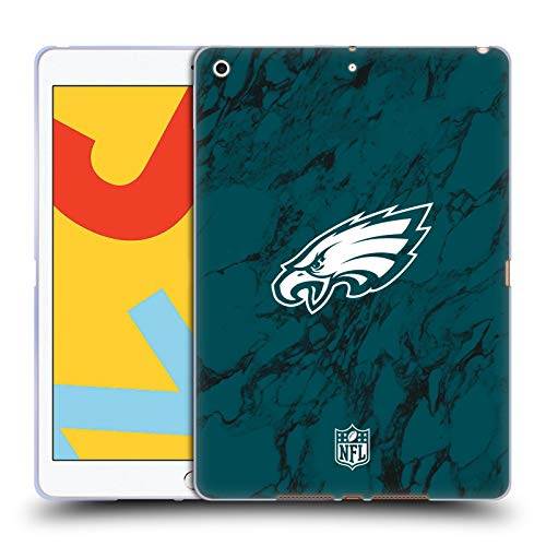 Official NFL Coloured Marble 2018/19 Philadelphia Eagles Soft Gel Case Compatible for Apple iPad 10.2 (2019)/(2020)