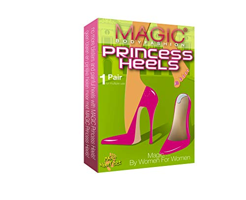 Magic Bodyfashion Damen Sneakersocken Princess Heels, Gr. One Size, Weiß - White (Clear)