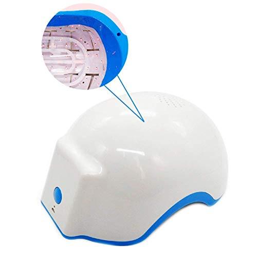 Máquina De Tratamiento De Terapia De Regeneración Capilar De Diodos, USB Recargable 678nm LED Láser Sin Dolor Estimula Los Folículos Casco De Rejuvenecimiento Del Cabello Sombrero, Blanco