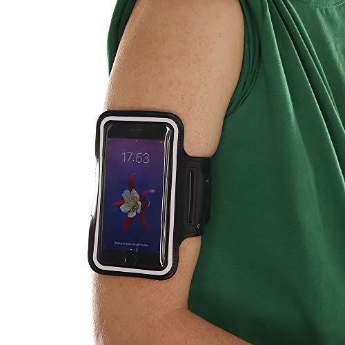 Fascia da braccio per smartphone, MELELILYA® bracciale di sport compatibile con Nokia 3.2 - con cinghia regolabile - con portachiavi, cravatta per cavo, titolare della carta