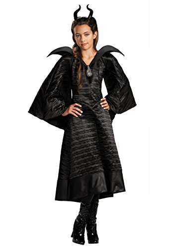 Girls Deluxe Black Maleficent Christening Gown Costume Size 10/12