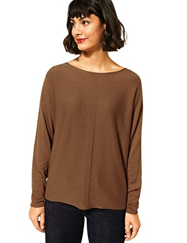 Street One Damen 301396 Style Noreen Pullover, nut Brown, 46