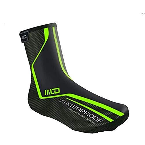 Cubrezapatillas de ciclismo Ciclismo Ciclismo Chanclas impermeables, Ciclismo Cubiertas de zapatos a prueba de viento Cálido Protector contra botas de nieve para la lluvia Pies de polaca Bicicleta de