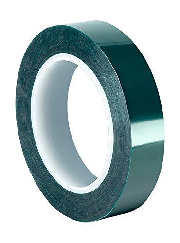 TapeCase 8992 Klebeband aus Polyester/Silikon, 3,8 cm x 2,9 m, Dunkelgrün, aus 3M 8992, 400 Grad F, 183 cm Länge, 4,3 cm Breite, Dunkelgrün