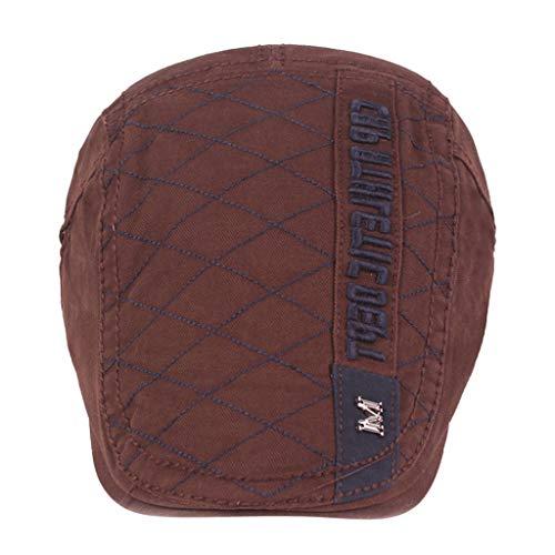 Longra Baskenmuts, unisex, modieus, reis-hoed, verstelbaar, effen, ademend, zacht, UV-bescherming, muts, logo